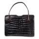 Vintage 1950s-1960s dark brown crocodile skin bag, estimate $100-$150. Jasper52 image