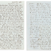 Frederick Douglass, Autograph Letter Signed, to Sallie Holley recruiting her for the Frederick $112,500 C Douglass Paper, 1851. Image courtesy Swann Auction Galleries