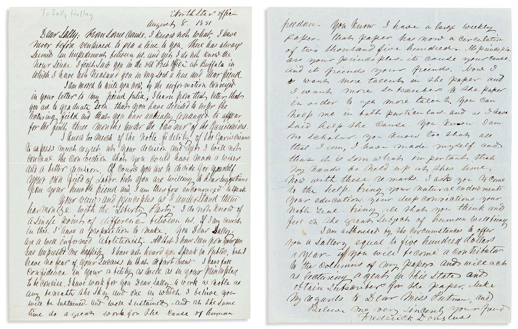 Swann sets record for Frederick Douglass autograph at $112K