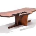 1966 Nakashima walnut Minguren coffee table, $20,000-$30,000. Image courtesy Ahlers & Ogletree