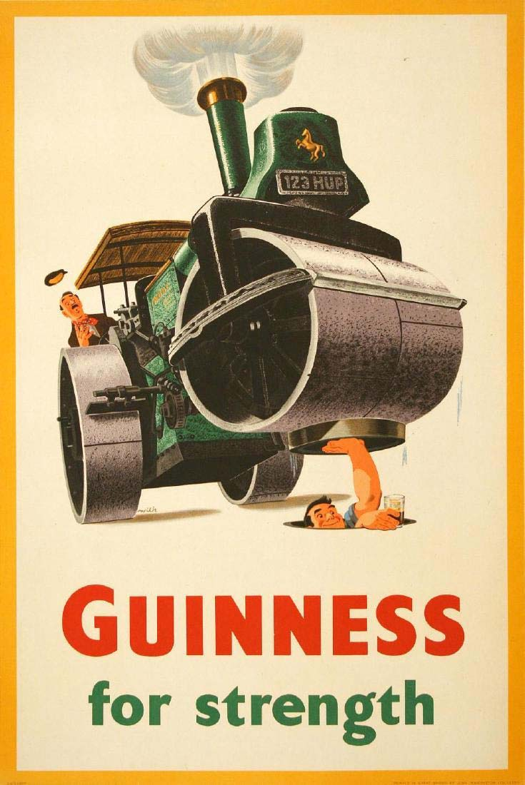 """Guinness For Strength,"" $1,300 plus buyer's premium. Photo courtesy of The Ross Art Group and LiveAuctioneers.com"