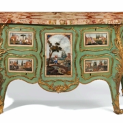 Pierre Langlois, George III ormolu-mounted commode, circa 1760, $200,000-$400,000. Image courtesy Christie's