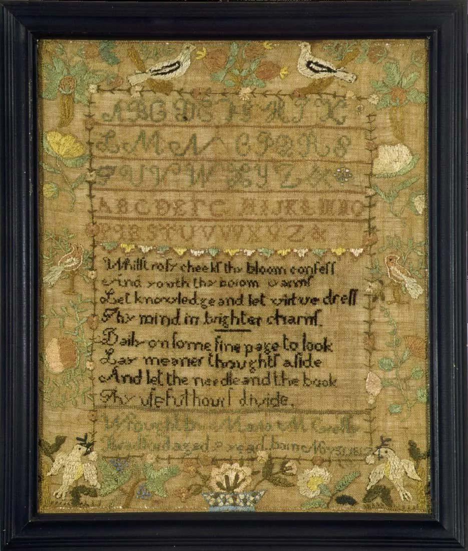 Maria M. Cressy, needlework sampler, Massachusetts, 1817, $4,000-$5,000. Image courtesy Jasper52