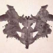 Rorschach inkblot, public domain image via Wikipedia