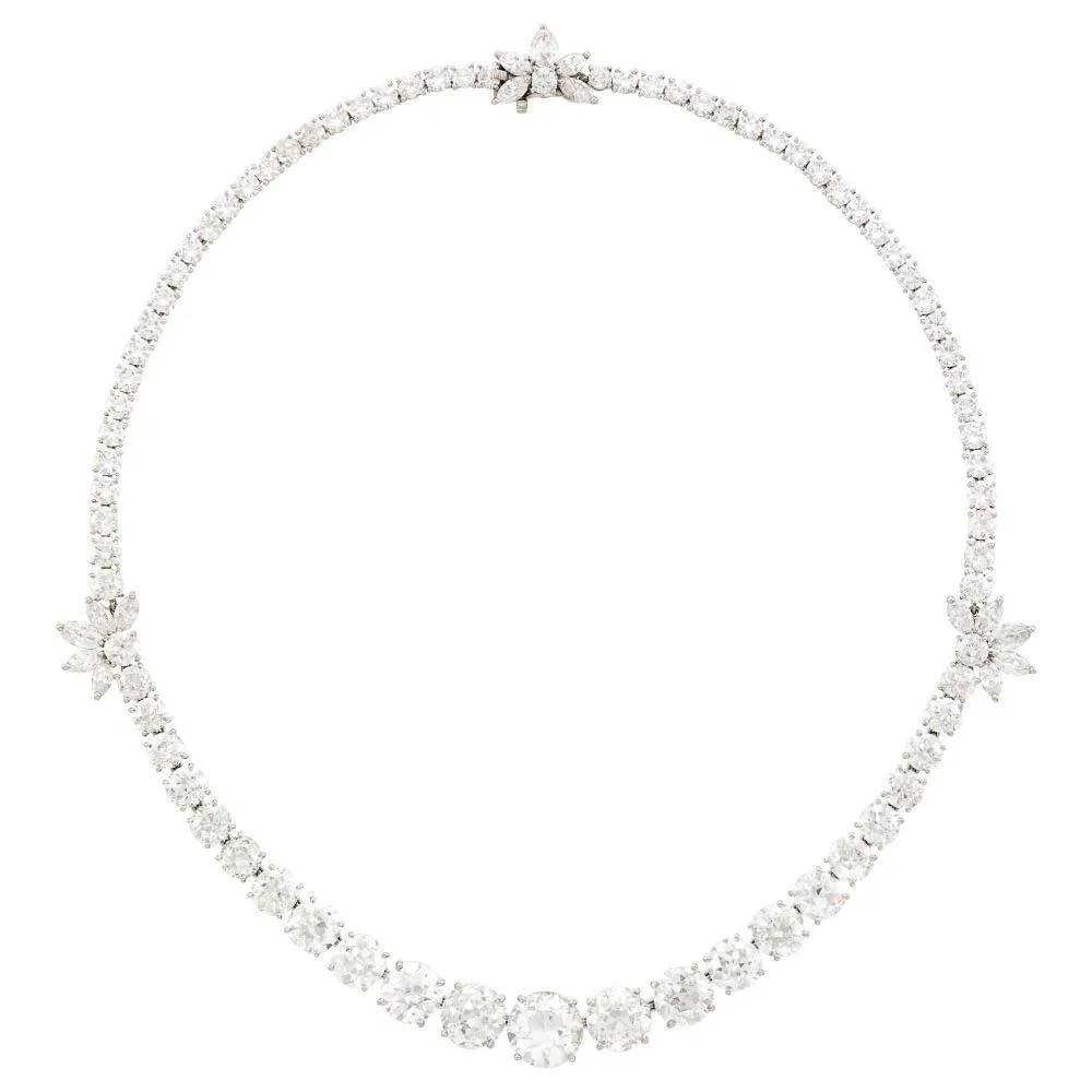 Cartier platinum and diamond necklace, $60,000-$80,000. Image courtesy Doyle New York