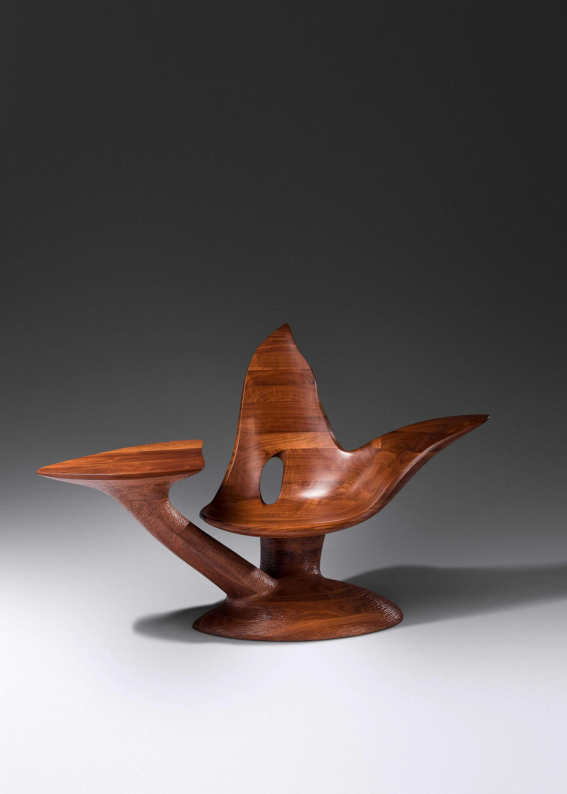 Wendell Castle (1932-2018) Too Soon Chair, 2005, $75,000. Image courtesy Hindman