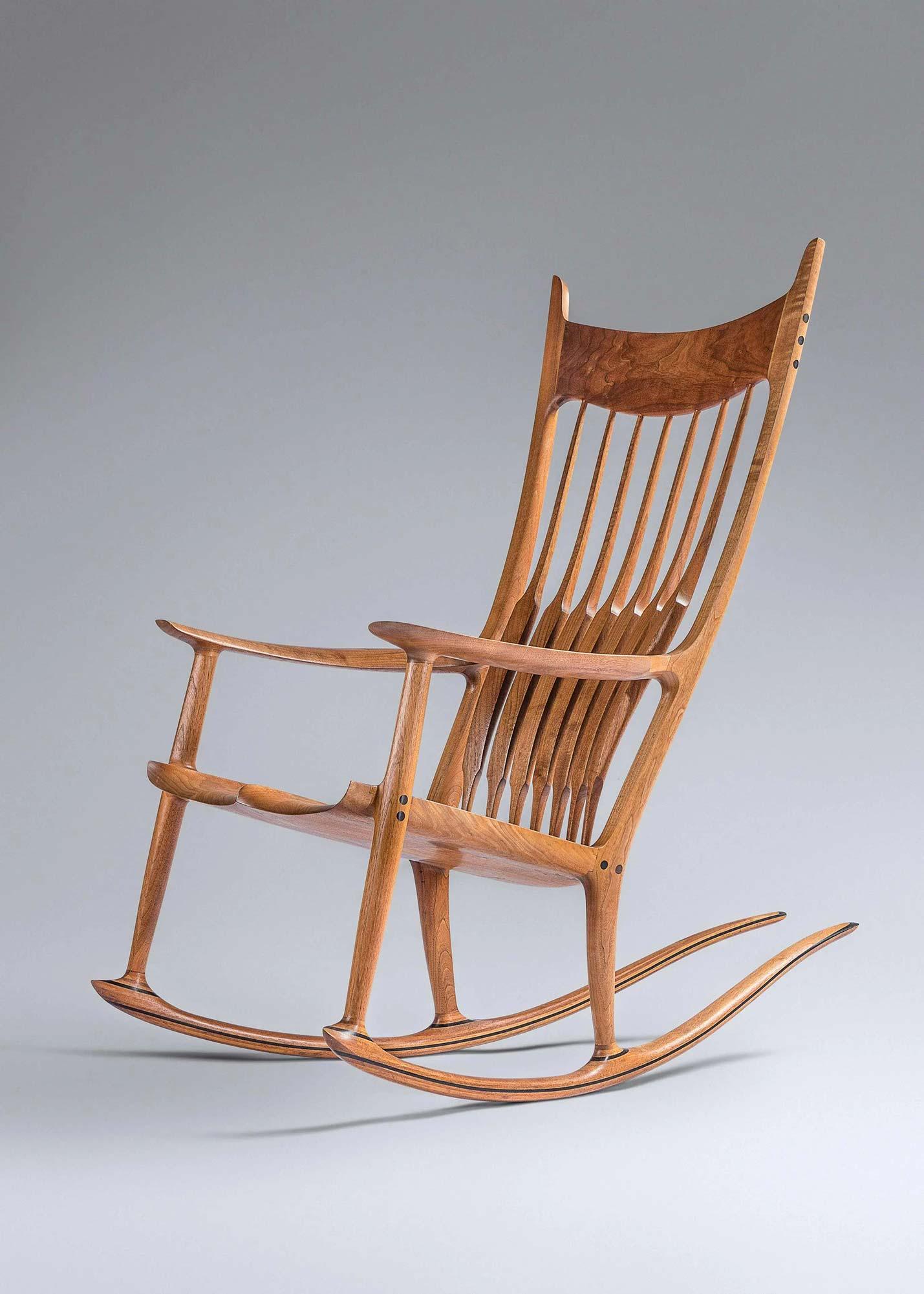Sam Maloof (1916-2009) Rocking Chair, 1993, $28,500. Image courtesy Hindman
