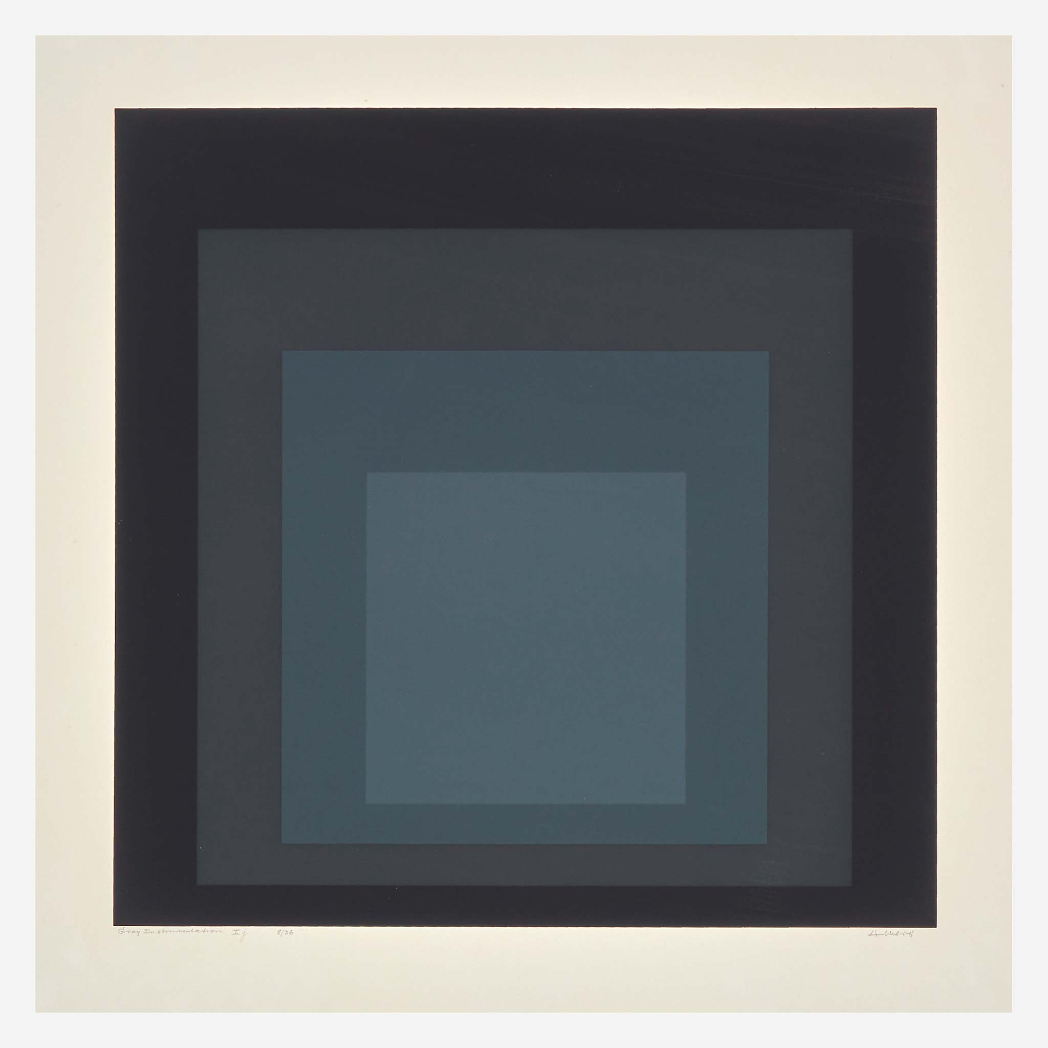Josef Albers (American/German, 1888-1976), 'Gray Instrumentation,' 1974, $8,500 plus buyer's premium. Image courtesy Freeman's