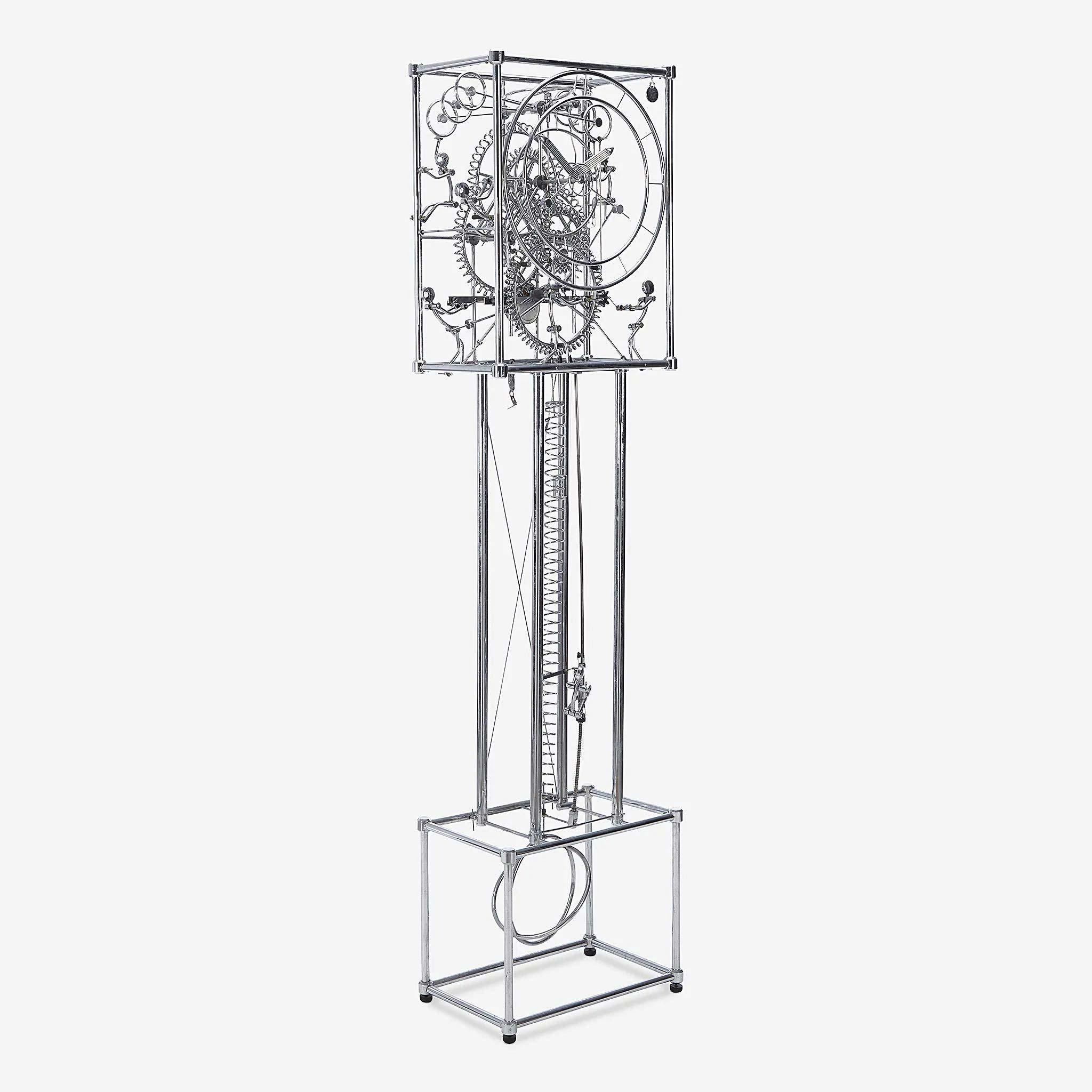 Gordon Bradt (American, b. 1924), 'The Seven Man' kinetic grandfather clock, late 20th century, $10,000 plus buyer's premium. Image courtesy Freeman's