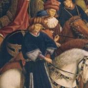 Jan van Eyck, 'Just Judges' missing panel from 'Ghent Altarpiece,' 1432. Public domain image via Wikipedia