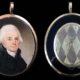 Exquisite portrait miniature of Thomas Jefferson attributed to the British miniaturist Robert Field (1769-1819), along with two locks of hair (one of them Jefferson's) ($60,000-$500,000).