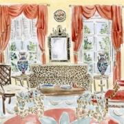 Mise-en-scène by illustrator Riley Sheehey. Image courtesy Christie's