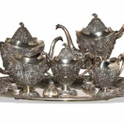 Thai Silver Tea Service, $2,500-$3,500. Image courtesy Oakridge Auction Gallery