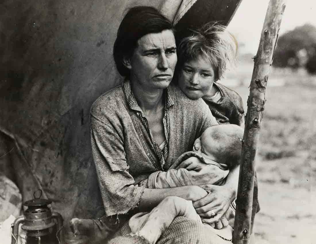 Dorothea Lange (1895-1965), Migrant Mother (Horizontal), $63,750.