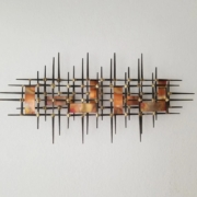 Brutalist metal wall art, USA, 1970s, $1,100-$1,500. Image courtesy Jasper52