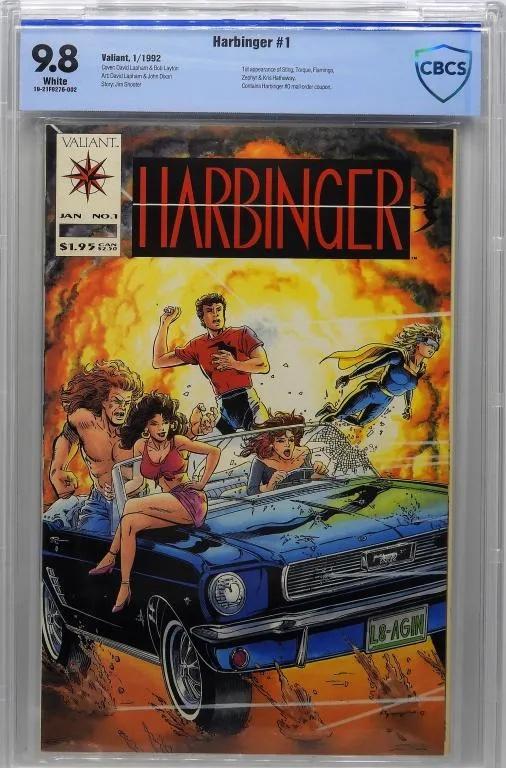 This Valiant Comics Harbinger #1 brought $550 + the buyer's premium in September 2019 at Bruneau & Co. Auctioneers. Photo courtesy of Bruneau & Co. Auctioneers and LiveAuctioneers.