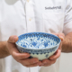 An exceptional and rare blue and white 'floral' bowl, Ming dynasty, Yongle period, sold for $721,800 during Sotheby's Important Chinese Art Auction in New York, 17 March 2021. Image courtesy of Sotheby's