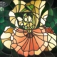 Lowell Nesbitt's stained glass light box, 'Iris,' estimated at $400-$600