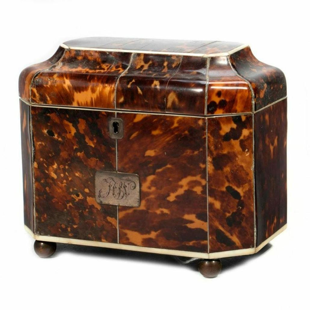 George III tea caddy estimated at $500-$700