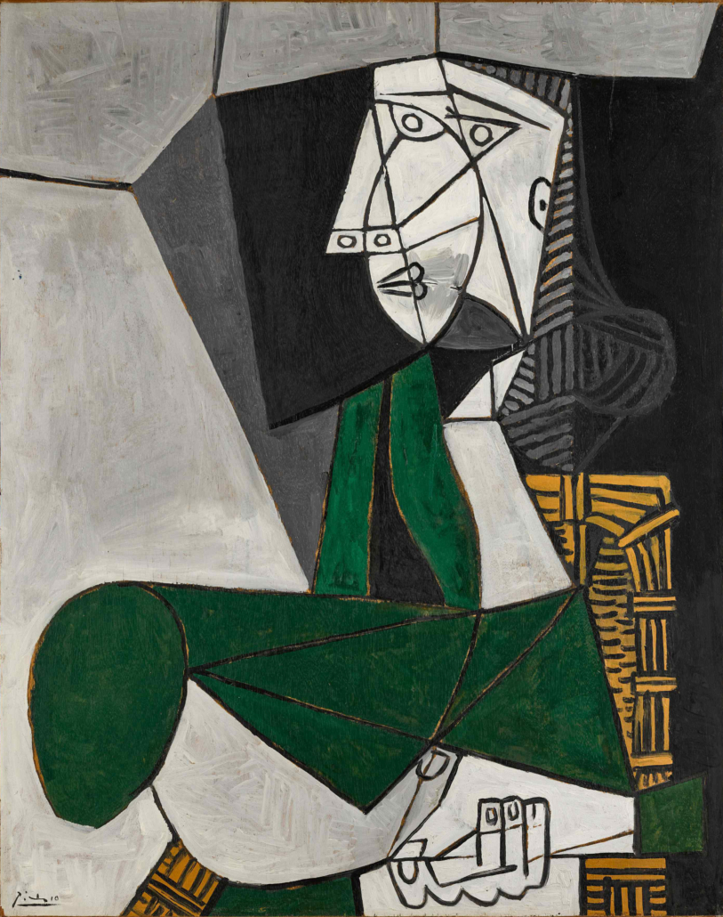 Picasso portrait of Francoise Gilot from 1953, estimated at $14m-$18m