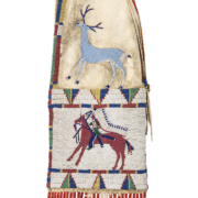 Edith Claymore (Miniconjou, 1858-1910) attributed Cheyenne River pictorial tobacco bag that sold for $100,000