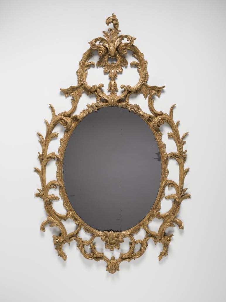 Circa 1760 Scottish Mirror in gilded wood frame, about 1760, from 'In Sparkling Company'