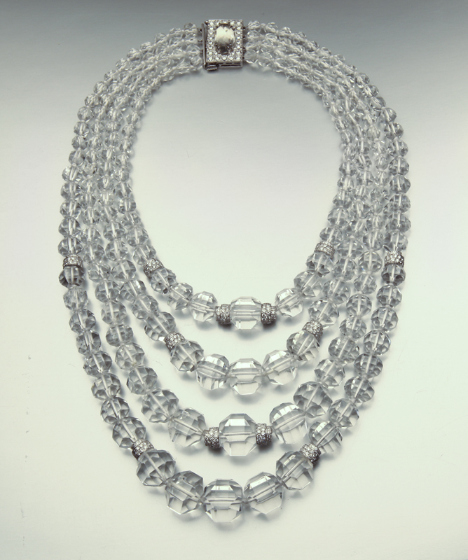 David Webb crystal and diamond necklace, estimated at $15,000-$25,000