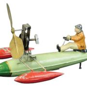 Ernst Plank pontoon boat, estimated at $3,000-$5,000
