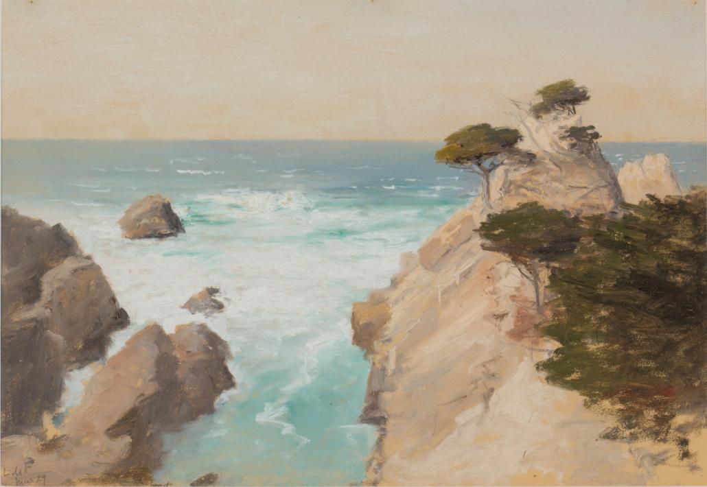 Lockwood De Forest California coastal landscape, estimated at $1,000-$2,000