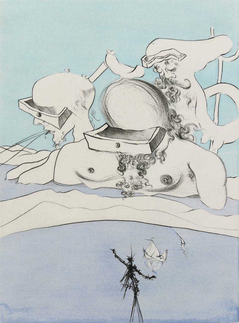 Salvador Dali, image from 'After 50 Years of Surrealism' portfolio, estimated at $6,000 - $9,000