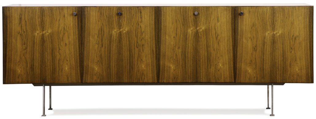 Rosewood credenza attributed to Poul Norreklit, estimated at $4,000-$6,000