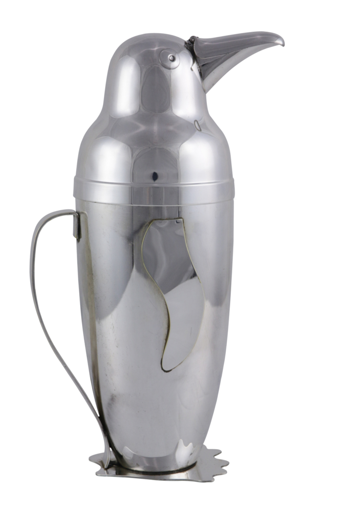 Emil A. Schuelke penguin cocktail shaker, estimated at $3,000-$5,000