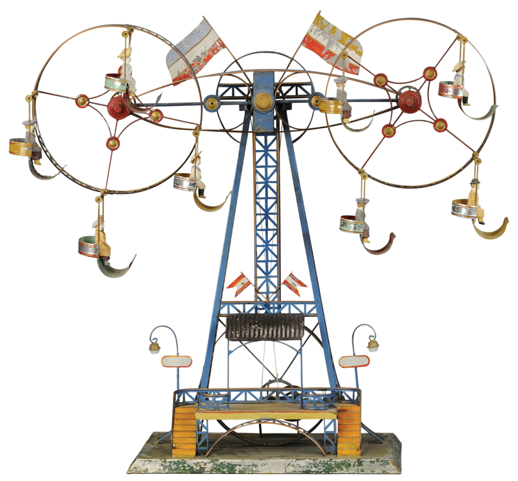 Mohr & Krauss double Ferris wheel, which sold for $132,000