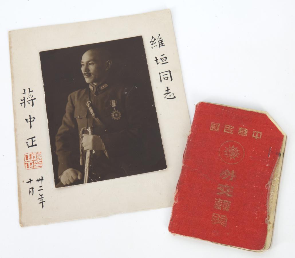 Signed photograph of Chiang Kai Shek, estimated at $800-$1,200