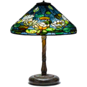 A Tiffany Studios Pond Lily lamp was the sale's top lot, commanding $143,750