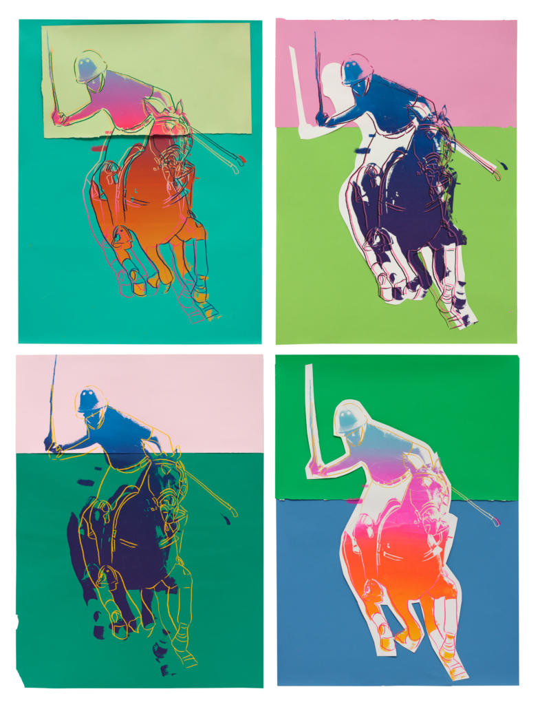 Andy Warhol, 'Four Polo Players,' which realized $137,500 on May 5