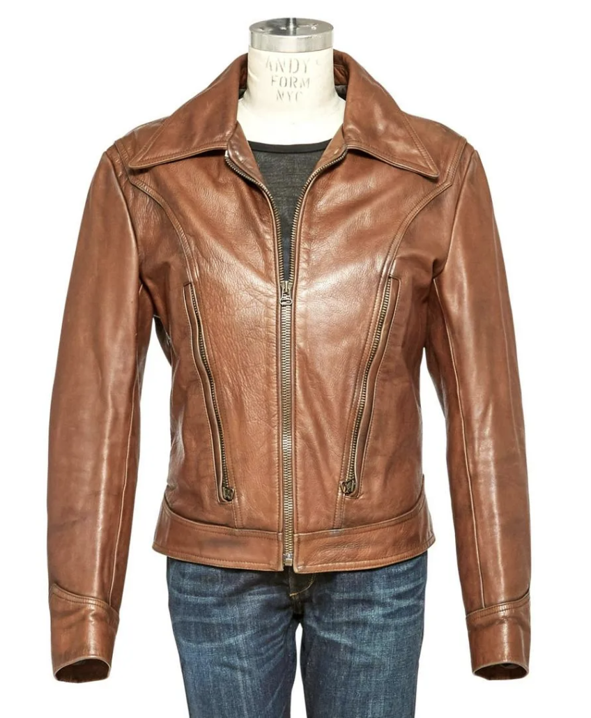 Leather jacket worn on screen by Hugh Jackman as Wolverine in 'X-Men: Days of Future Past'
