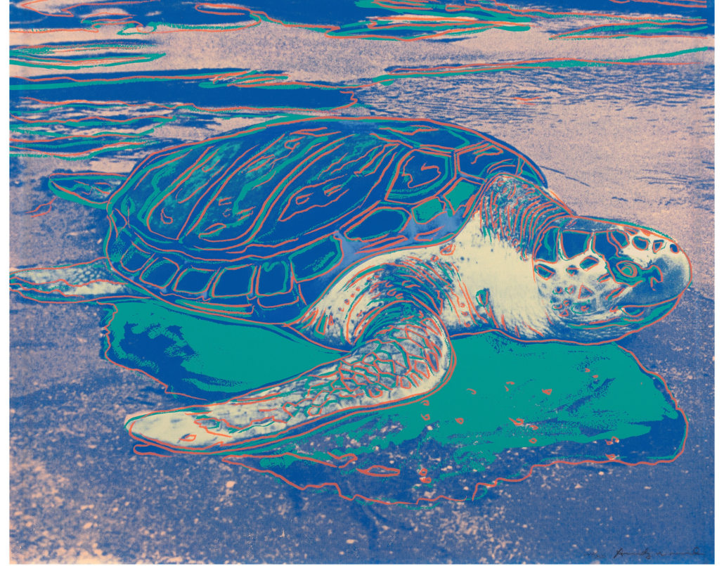 Andy Warhol, 'Turtle,' which sold for $62,500