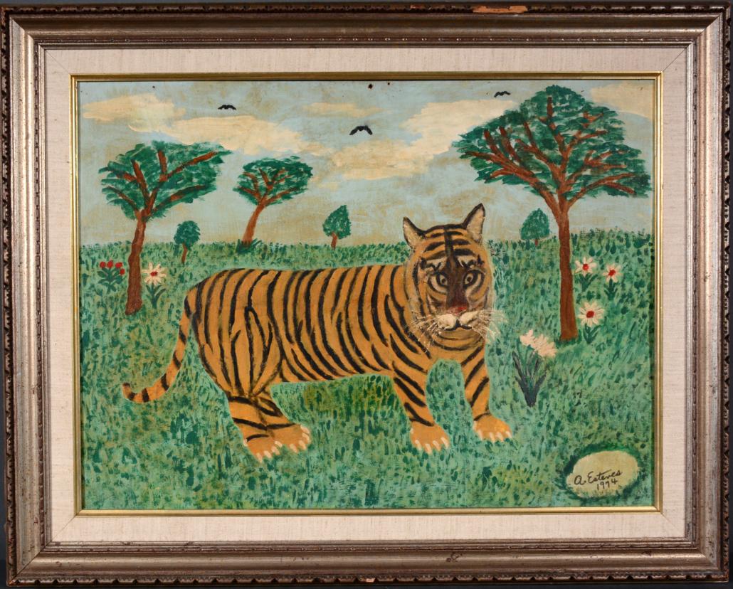 Antonio Esteves, 'Tiger in the Grass', 1974