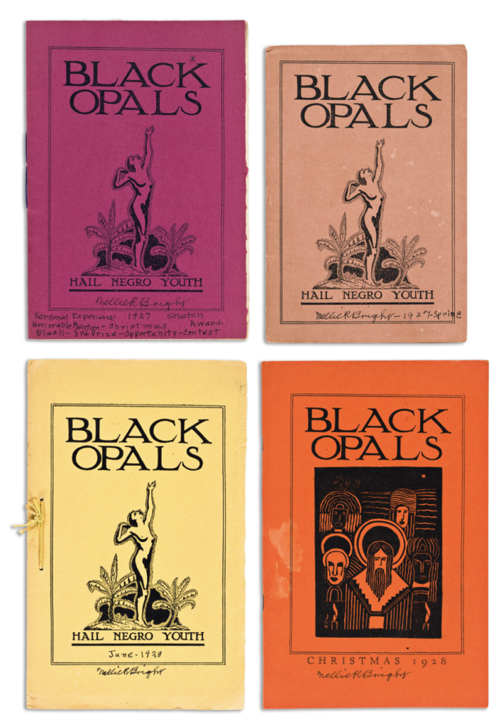 Four issues of Black Opals, the legendary limited-edition literary journal, sold for $45,000.