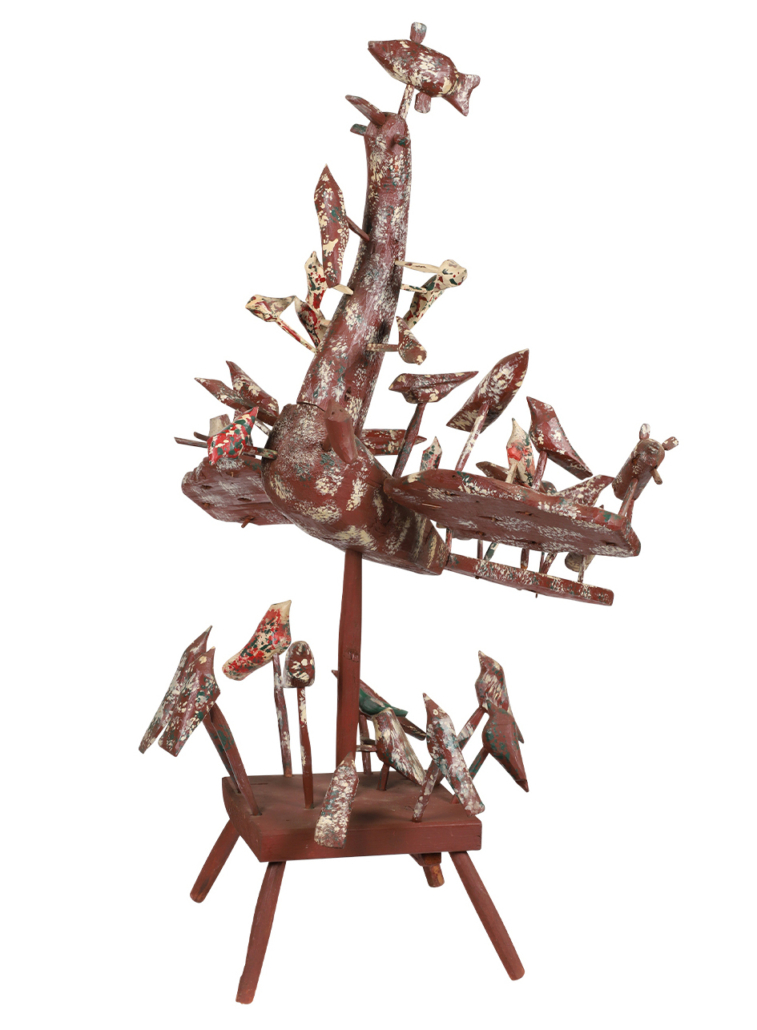 Monumental birds sculpture by Edmond Chatigny, which sold for CAD $8,260