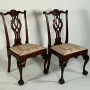 Chippendale mahogany side chairs, which sold for $33,210