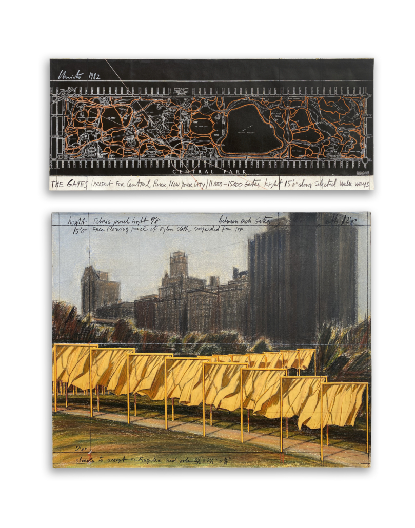Early precedent to Christo's 2005 work, 'The Gates'
