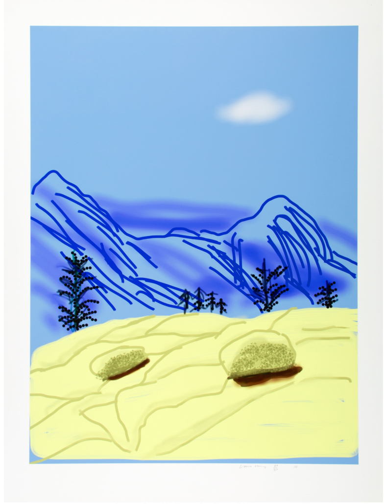 David Hockney, 'Untitled No. 24' from 'The Yosemite Suite,' which sold for $52,500