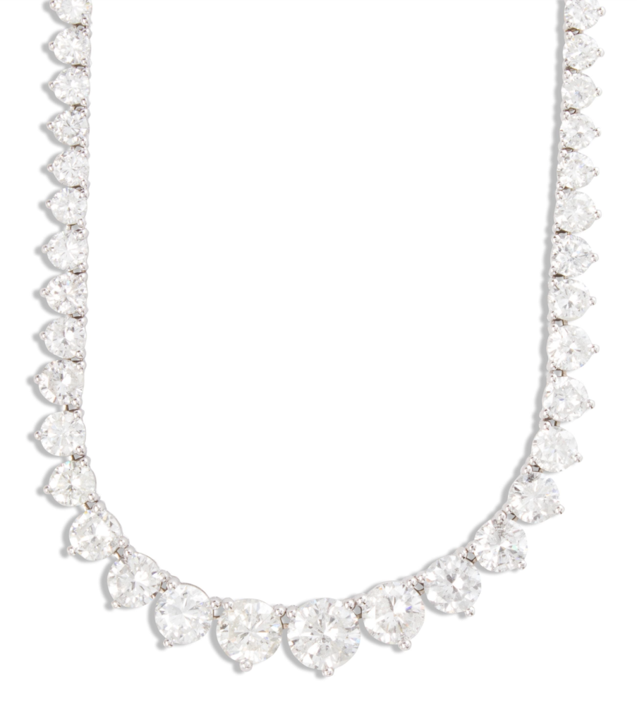 Diamond riviere necklace estimated at $8,000-$10,000