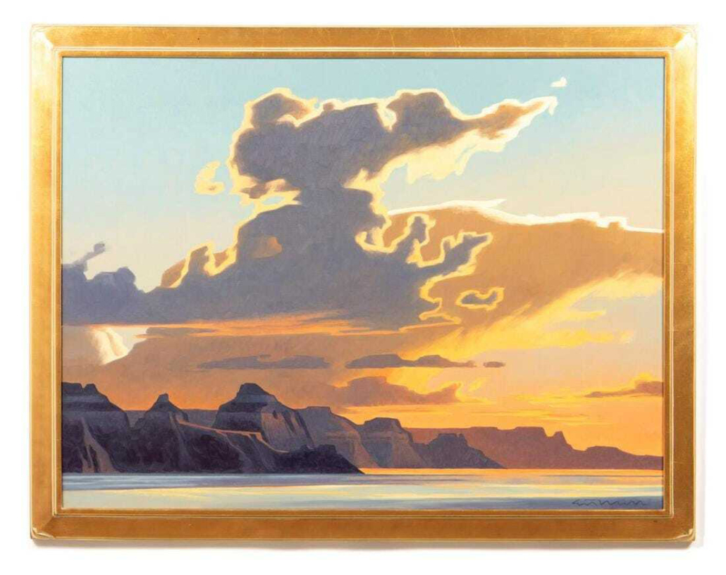 Ed Mell,'Western Landscape,' which sold for $40,300