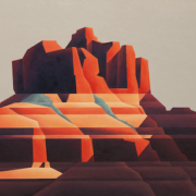 Ed Mell, 'Red Rock,' estimated at $15,000-$25,000
