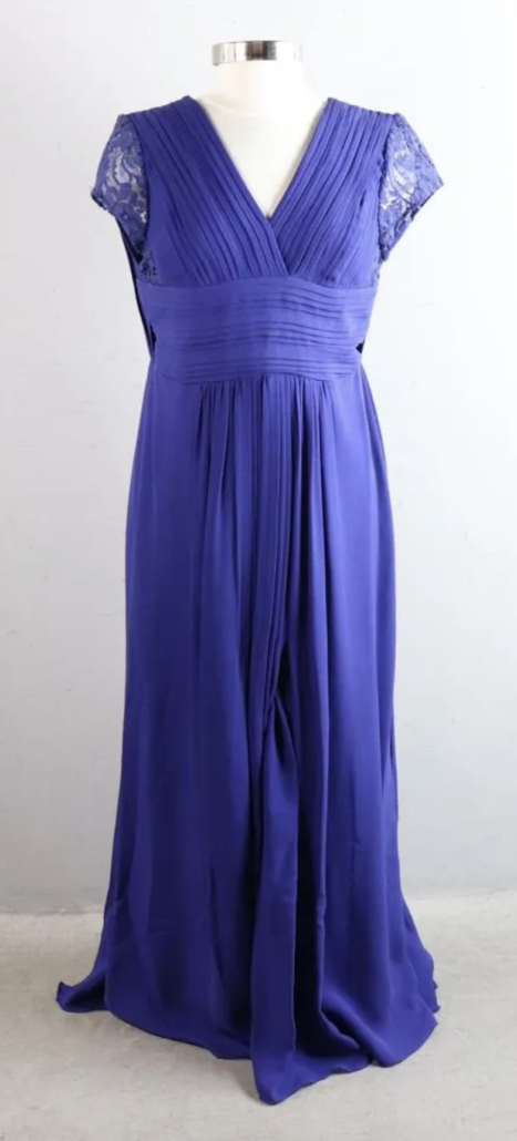 A royal blue Elie Saab evening gown, estimated at $400-$800
