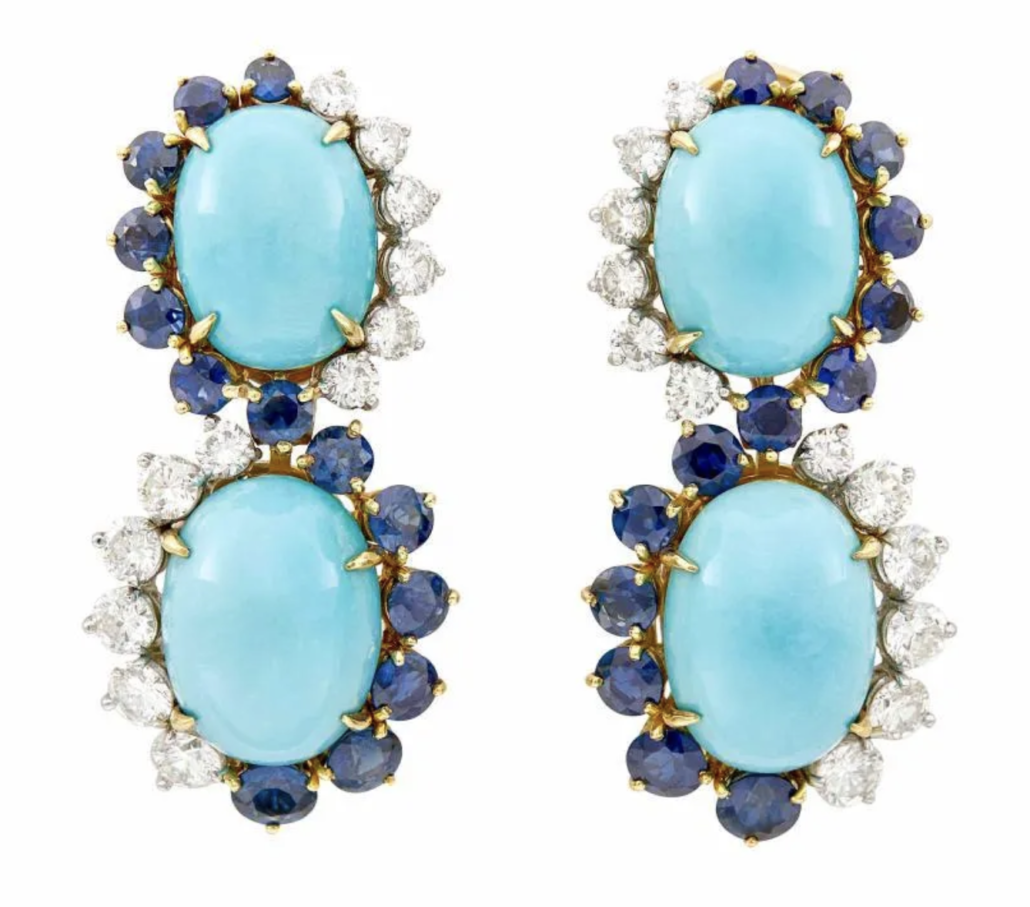 An Emis pair of pendant ear clips, estimated at $3,000-$5,000
