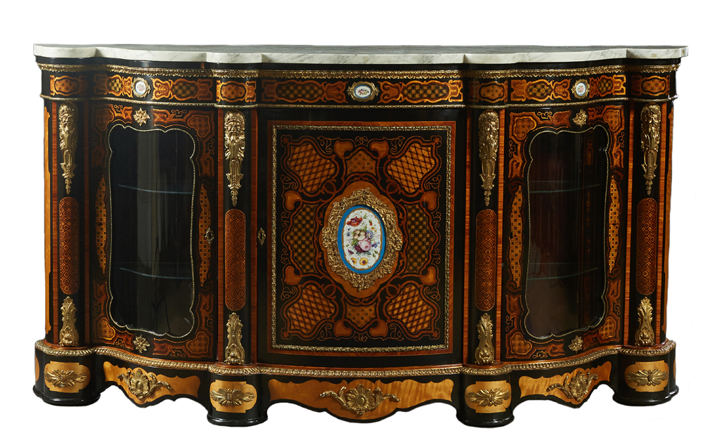 French Louis XV-style parlor cabinet, estimated at $2,500-$4,500